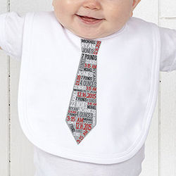 Personalized Boy's Dressed for Success Baby Bib