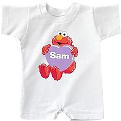 Personalized Elmo Heart T-Romper