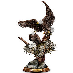 Eagle Cam Inspired American Bald Eagle Sculpture