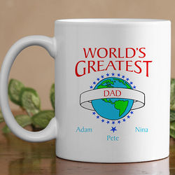 Personalized World's Greatest Ceramic Coffee Mug