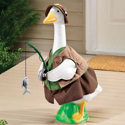 Fisherman Outfit for Goose Garden Statue