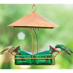 Bouquet Basketweave Shelter Hummingbird Feeder