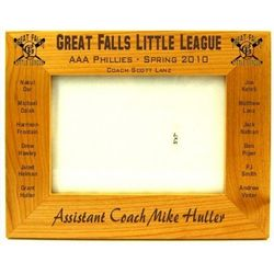 Personalized Baseball Roster Picture Frame