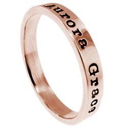 Handmade 14K Rose Gold 3mm Ring