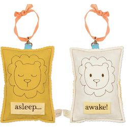 Yellow Lion Baby Sleep Sign