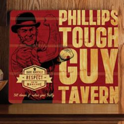 Personalized Tough Guy Vintage Tavern Wood Sign