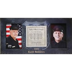 Police Officer's Prayer Photo Frame