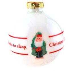 Whimsical Green Santa Ornament