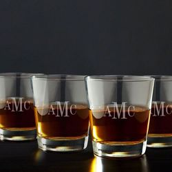 Classic Monogram on the Rocks Glasses