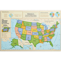 Beginners Personalized Canvas United States Map
