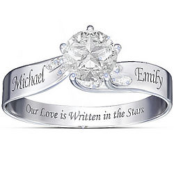 Personalized Written in the Stars Ring