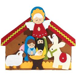 7 Piece Colorful Felt Nativity Set