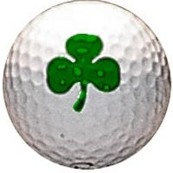 Shamrock Clover Golf Ball