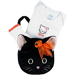 Kitty Halloween Tote for a Tot