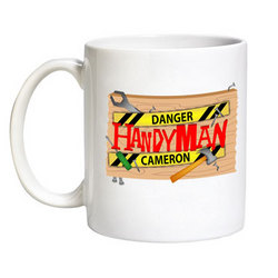 Personalized Danger Handyman Mug