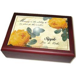 Personalized Yellow Rose Keepsake Box