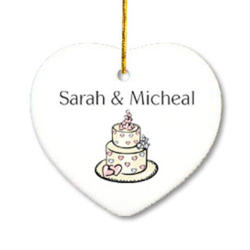 Our First Christmas Together Wedding Cake Ornament