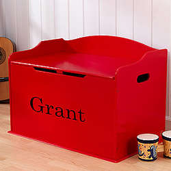 Personalized Red Toy Box