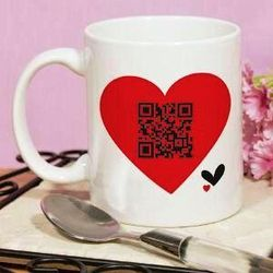 Hidden Message Barcode Scan Mug