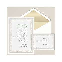 Falling in Love Snowflake Wedding Invitation