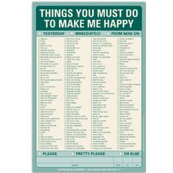 Things You Must Do to Make Me Happy Note Pad