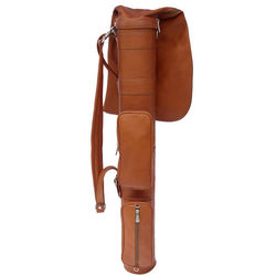Saddle Piel Leather Golf Travel Bag
