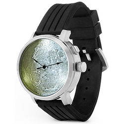 Steel and Rubber Moon Surface Watch