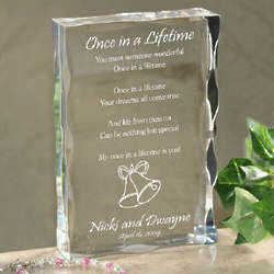 Once in a Lifetime Wedding Plaque