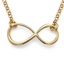Gold-Plated Delicate Touch Infinity Necklace