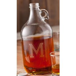 Personalized Initial Whiskey Growler