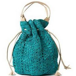 Marais Crocheted Drawstring Tote