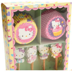 Hello Kitty Cupcake Liner and Picks Set
