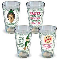 Elf Movie Pint Glasses