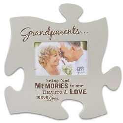 Grandparents Puzzle Piece Picture Frame