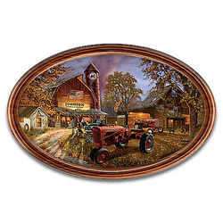 Allis-Chalmers Barnhouse Collector Plate Personalized with Name