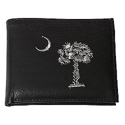 South Carolina Embroidered Leather Wallet & Removable ID Holder