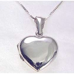 Engravable Puffed Heart Sterling Silver Locket