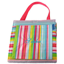 Personalized Pink Striped Doodlebag Activity Backpack