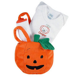 Pumpkin Halloween Tote for a Tot