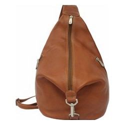 Three-Zip Leather Hobo Sling