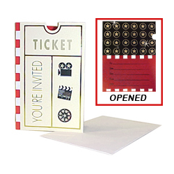 Movie Ticket Invitation Cards