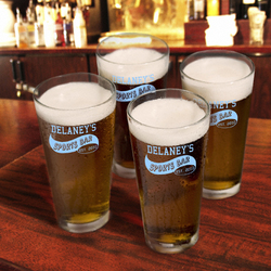 Personalized Sports Bar Pub Glass Set