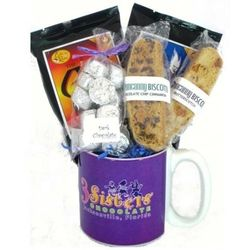 Coffee Mug and Chocolate Gift Basket