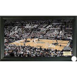 San Antonio Spurs Signature Framed Court Image