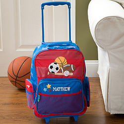 Personalized Boy's Sports Rolling Luggage