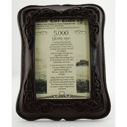 Irish Peat Celtic Picture Frame