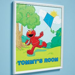 Personalized 18x24 Framed Elmo Canvas