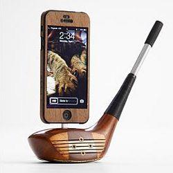 Wood Golf Club iPhone 5 Dock