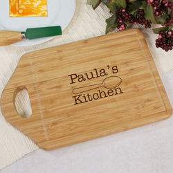 Center Engraved Bamboo Carving Board