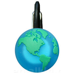 Glowing Earth Zipper Pull